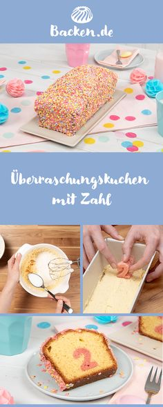 Überraschungs-Kuchen mit Zahl Surprise Inside Cake with a difference: Surprise your dearest children with our delicious surprise cake, which reveals a number or another motif when you cut it. Perfect for shining eyes for a birthday. Easy Vanilla Cake Recipe, Chocolate Cake Recipe Easy, Easy Cake Recipes, Cookie Recipes, Surprise Inside Cake, Mascarpone Cake, Number Cakes, Number Number, Food Cakes