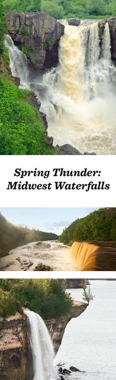 As winter turns to spring, check out the thundering waters of these upper Midwest waterfalls: http://www.midwestliving.com/blog/travel/spring-thunder-at-upper-midwest-waterfalls/ #travel #michigan #minnesota #wisconsin