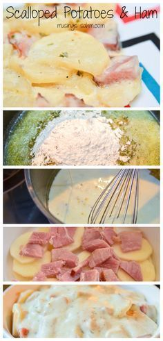 This Scalloped Potatoes & Ham recipe is a tried-and-true family favorite recipe. It's the perfect way to use leftover ham. http://samscutlerydepot.com/product/1pcs-pocket-portable-sharpener-carbide-home-household-handhled-sharpening-stone-for-kitchen-knives/