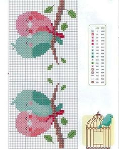 @selinceisler'in bu Instagram fotoğrafını gör • 11 beğenme Easy Cross Stitch Patterns, Small Cross Stitch, Cross Stitch For Kids, Cross Stitch Bird, Cross Stitch Borders, Cross Stitch Animals, Cross Stitch Charts, Cross Stitch Designs, Cross Stitch Embroidery