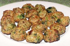 A recipe for delicious cheesy appetizer balls made with broccoli florets, Parmesan cheese and bread stuffing. A big hit at social gatherings!