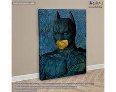 Batman's   self portrait (Self Portrait by Vincent van Gogh), πίνακας σε καμβά,19,90 €,http://www.stickit.gr/index.php?id_product=19642&controller=product, Δείτε το !