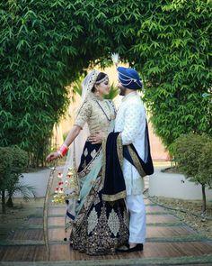 Punjabi marriage Photography of Sikh Couple Indian Wedding Couple Photography, Wedding Couple Photos, Bridal Pictures, Pre Wedding Photoshoot, Bridal Shoot, Bridal Gown, Punjabi Wedding Couple, Sikh Wedding, Wedding Poses