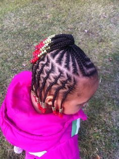 LITTLE GIRL HAIRSTYLES / BRAIDS /  HAIRSTYLE / HAIRSTYLES / KIDS / BOW  / CORNROLLS / HAIRDO / UPDO / GIRL