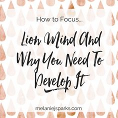 """Are you constantly chasing shiny objects? Learn how to focus by developing """"lion mind."""""""
