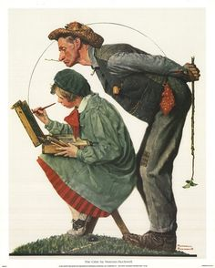 """""""Hayseed Critic"""" Saturday Evening Post Cover, July by Norman Rockwell Norman Rockwell Prints, Norman Rockwell Paintings, Peintures Norman Rockwell, The Saturdays, Saturday Evening Post, Caricatures, Oeuvre D'art, American Artists, Belle Photo"""