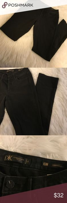 🎉The Kim Curvy Straight Leg Black Jeans 🎉Minimal Wear. Great Condition. Black. The Kim. Curvy Straight. Premium Denim. Size 6 Kardashian Kollection Jeans Straight Leg