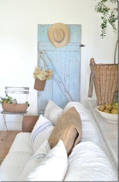 Fall home tour, fresh pears, farmhouse, Becky Cunningham HOME, Buckets of Burlap blog, harvest basket, natural home, barn door, Fall home, autumn, interior styling, home decor, country living