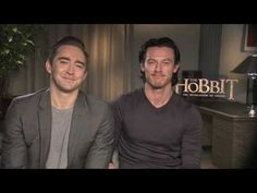 A special message from Lee Pace (Thranduil) and Luke Evans (Bard the Bowman) --- Please, please keep talking... please oh please