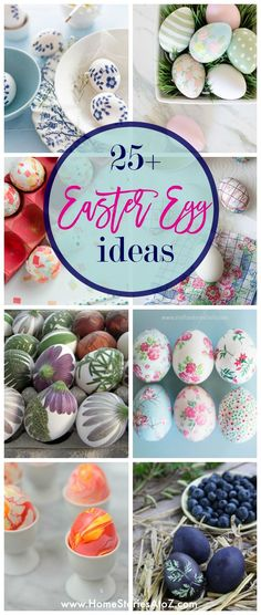 25 unique Easter Egg Ideas with pictures and tutorials. Gather inspiration with these beautiful Easter egg ideas featuring decoupaged eggs, gold leaf eggs, Easter Activities For Kids, Kid Activities, Easter Egg Designs, Easter Ideas, Easter Tree, Diy Ostern, Coloring Easter Eggs, Easter Brunch, Egg Decorating