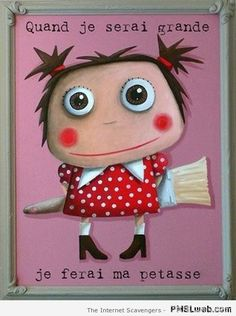Girl with paintbrush Take A Smile, Im A Princess, Wood Carving Patterns, Never Grow Up, Sweet Words, Photo Illustration, Funny Cute, Cute Art, Illustrations Posters