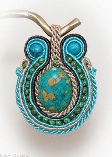 Soutache necklace. Soutache Necklace, Polymer Clay Projects, Turquoise Bracelet, Bracelets, Jewelry, Jewlery, Jewerly, Schmuck, Jewels