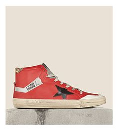 GOLDEN GOOSE Deluxe 2.12 high-top trainers (Red