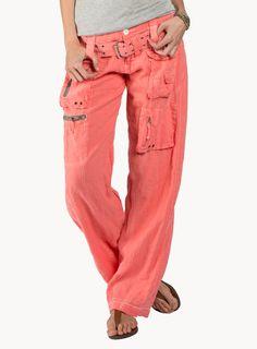 Johnny Was: Linen Cargo Pants