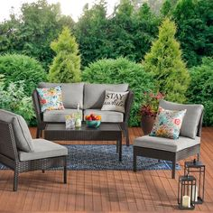 Summer is almost here! Its the perfect time to upgrade your patio with these stylish pieces. Sponsored by Walmart  Outdoor Living Areas, Outdoor Spaces, Outdoor Decor, Rooftop Decor, Outdoor Retreat, Budget Patio, Deck Decorating, Outdoor Furniture Sets, Modern Garden Furniture