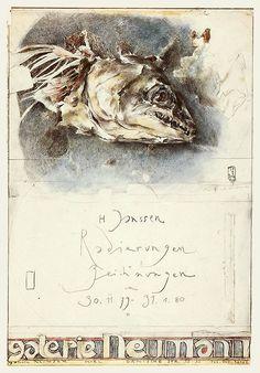 Horst Janssen, Emo Scene Hair, Fish Tales, Anatomy Art, Ink Pen Drawings, Moleskine, Sketching, Art Reference, Watercolor Paintings