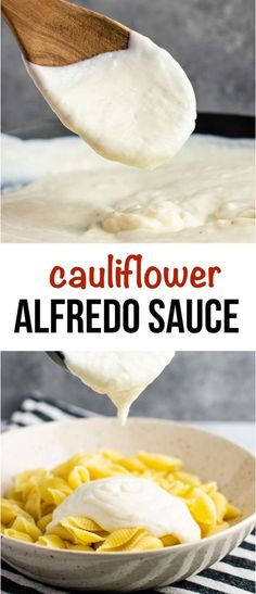 Creamy cauliflower alfredo sauce recipe – literally this makes the best cheese sauce ever! You would never guess it has any veggies in it! alfredo sauce cauliflower Cauliflower Alfredo Sauce Recipe - Build Your Bite Califlower Alfredo Sauce, Vegan Alfredo Sauce, Alfredo Recipe, Creamy Cauliflower Sauce, Vegan Cheese Sauce, Cauliflower Cheese, Weight Watchers Alfredo Sauce Recipe, Fettucine Alfredo Sauce, Healthy Alfredo Sauce Recipe