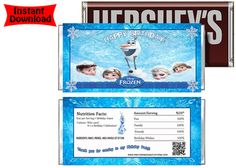 Disney Frozen Movie Candy Bar Wrappers