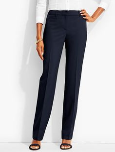 Straight-Leg Trouser-Lindsey Fabric | Talbots