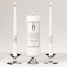 Black Crown Unity Candle Set | Wedding Unity Candle