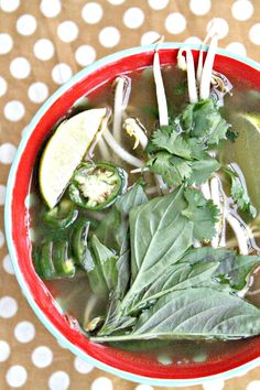 Easy and healthy veggie pho! Pinning now to make later!