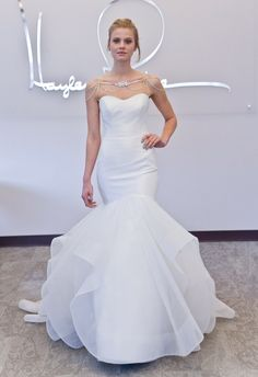 Crystal Shoulder Mermaid Wedding Dress   Blush by Hayley Paige Fall 2014   The Knot Blog