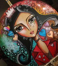 P Pics, Mother Art, Mixed Media Journal, Arte Pop, Rangoli Designs, Queen Of Hearts, Felt Ornaments, Whimsical Art, Big Eyes