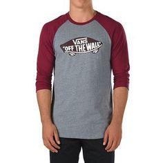 Camiseta Vans OTW Raglan Heather Grey Burgundy Gris para hombre de #oferta en nuestra tienda online. #skater #surf #skate #skatespain #thrasher #flame #skategoat #moda #trendy #chic #rebajas #ofertas #streetwear #vans