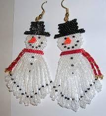 christmas women jewelry: beaded earrings santa earrings - fluffy beard candy cane earrings biker santa earrings these beadwoven earrings are made with delica se Seed Bead Earrings, Beaded Earrings, Beaded Jewelry, Seed Beads, Hoop Earrings, Fine Jewelry, Jewelry Shop, Cheap Jewelry, Beaded Christmas Ornaments
