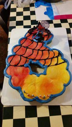 Spiderman Number 3 Birthday Cupcake Cake Kesney S Cakes