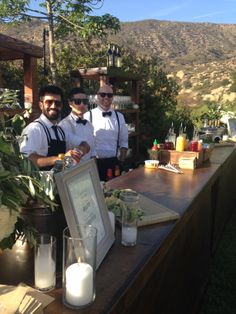Paradise Bar making #farmtobar #cocktails at the Saperstein Wedding! Visit our website for wedding bookings! www.paradisebar.net