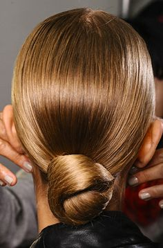 Nice Buns: The sleek chignon is the go-to look for the next time you have a fancy dinner to attend