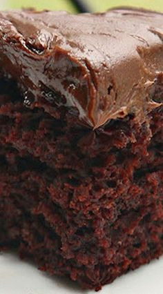 COFFEE & KAHLUA CRAZY CAKE ~ Moist and Tender Chocolate Cake - No Eggs, Milk, or Butter!!! |  SweetLIttleBluebird.com
