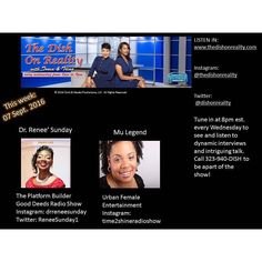 Super excited to be a guest tonight on The Dish On Reality with Tonia & Trina along with Mu Legend of Urban Female Entertainment. Tune in to hear about our latest projects and events around the city of Atlanta GA. Go to http://ift.tt/2644mXP at 8pm est. on Wednesday to see and hear us live. #platformbuilder #thedishonreality #sisters #radio #radiohosts #makingmoves #sistersinbusiness #wshr #griffinnative #ladybosses #makingadifference #mulegend #atlantaga #atlanta