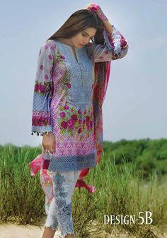 Akbar Aslam Embroidered Lawn 2017