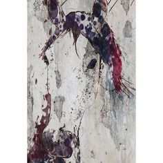 Marmont Hill - 'Purple Horse' by Irena Orlov Painting Print on Wrapped Canvas