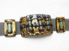 tutoriel un bracelet steampunk en fimo - YouTube