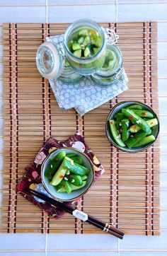 Chili and Garlic Pickled Baby Cucumber