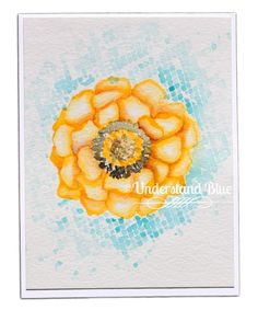 Stamps: Blended Bloom Paper: Watercolor Paper, Whisper White Paper Size: A2 Ink: None Accessories: Koi Watercolor, Drywall tape