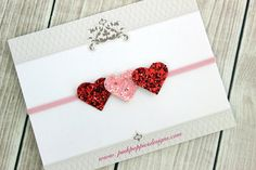 Heart Headband Valentine's Day Headband Glitter Heart