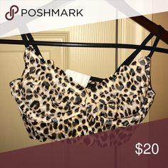 PINK Bralette Leopard PINK Victoria's Secret Intimates & Sleepwear Bandeaus