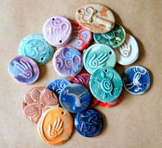 20 Handmade Ceramic Beads  Fun Sale Bead Assortment by beadfreaky