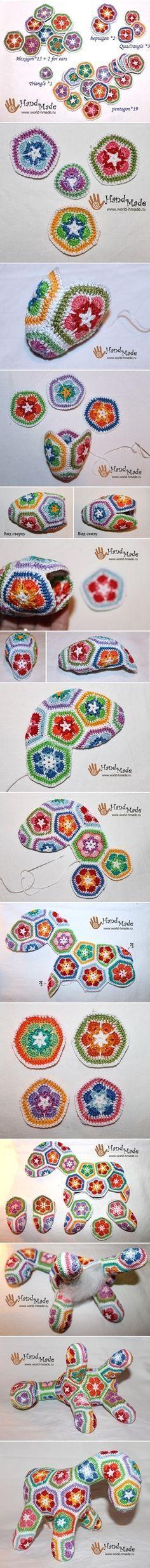 "Crochet ""Afrain Flower"" Horse DIY | www.FabricArtDIY.com"
