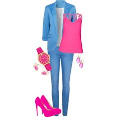 pink the blues by design-21 on Polyvore featuring polyvore fashion style Ted Baker Brian Atwood Kate Spade Alexis Bittar Kendra Scott