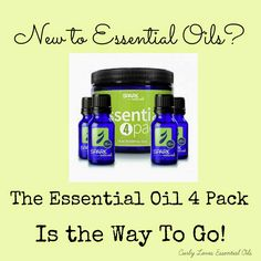 Curly Loves Essential Oils: New to Essential Oils? Essential 4 Pack is the Way to Go!