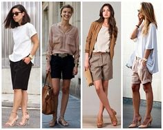 Stitch fix: I have large thighs but I really want to try Bermuda shorts. What will look good on me? Classic Outfits, Short Outfits, Summer Outfits, Casual Outfits, Over 50 Womens Fashion, 50 Fashion, Fashion Trends, Casual Chic, Bermudas Fashion