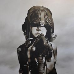 Art of Michael Peck - Fighter Pilot (Oil Painting on Linen)