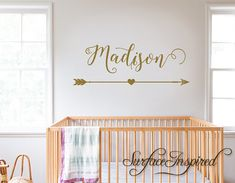 Wall Decals Personalized Names Nursery Wall by SurfaceInspired