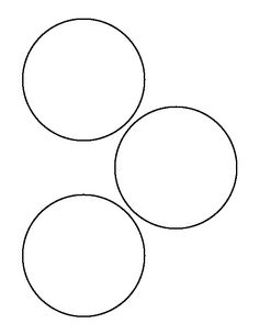 cut out the shape and use it for coloring crafts stencils and more - 3 5 Inch Circle Template