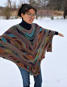 Ravelry: Aflutter Poncho pattern by Marin Melchior Roving Yarn, Marines, Ravelry, Knit Crochet, Crochet Patterns, Butterfly, Knitting, Color, Collection